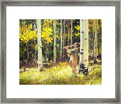 Native Sound In The Forest Framed Print by Gary Kim
