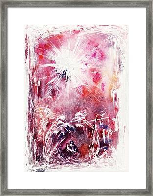 Nativity 5 Framed Print by Rachel Christine Nowicki