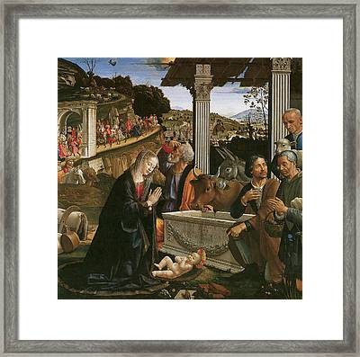 Nativity  Framed Print by Domenico Ghirlandaio