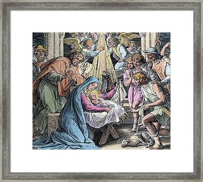 Nativity Framed Print by Gustave Dore