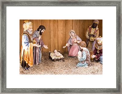 Nativity Scene Framed Print by Thomas R Fletcher