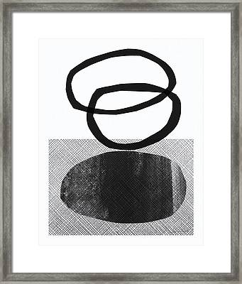 Natural Balance- Abstract Art Framed Print by Linda Woods