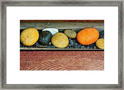 Natural Boundaries Framed Print by Karon Melillo DeVega