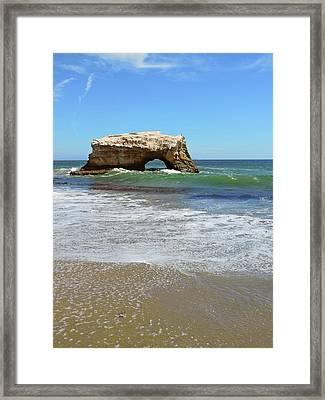 Natural Bridge Beach Framed Print by Connor Beekman