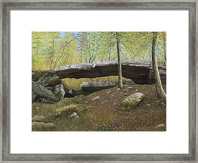 Natural Bridge, Clinton, Arkansas Framed Print by Mary Ann King