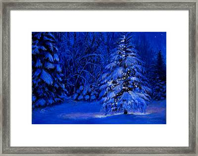 Natural Christmas Tree Framed Print by Susan Jenkins