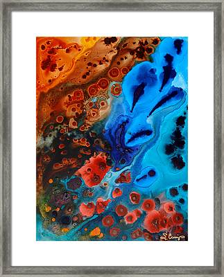 Underwater Diva Framed Print featuring the painting Natural Formation by Sharon Cummings