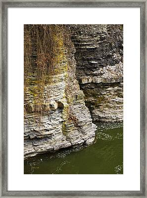 Nature Abstract Rock Cliffs Framed Print by Christina Rollo