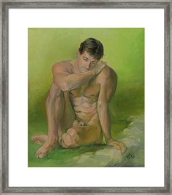 Nature Boy Framed Print by Liz Viztes
