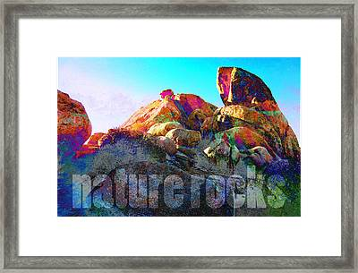 Nature Rocks Desert Landscape Framed Print by John Fish