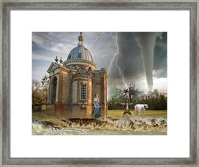 Nature's Fury Framed Print by Solomon Barroa