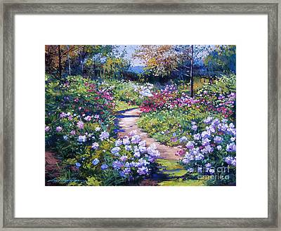 Nature's Garden Framed Print by David Lloyd Glover