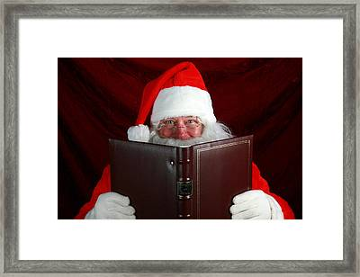 Naughty Or Nice Framed Print by Michael Ledray