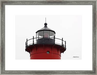 Nauset Lighthouse Detail Framed Print by Michelle Wiarda