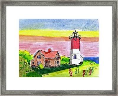 Nauset Point Lighthouse Framed Print by Paul Meinerth