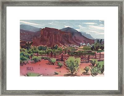Navajo Corral Framed Print by Donald Maier