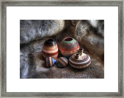 Navajo Pottery Framed Print by Merja Waters