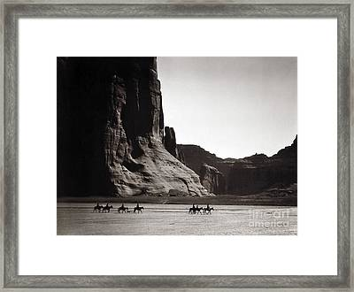 Navajos: Canyon De Chelly, 1904 Framed Print by Granger