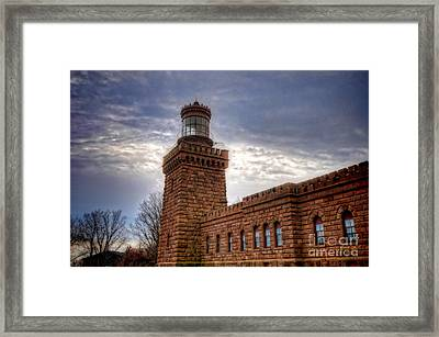 Navesink Twin Lighthouse Framed Print by Paul Ward