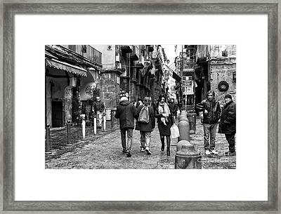 Navigating Naples Framed Print by John Rizzuto