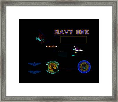 Navy One Framed Print by Mike Ray