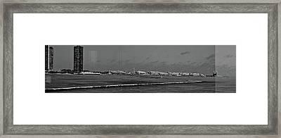Navy Pier Framed Print by Tina Valvano