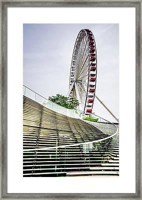 Navy Pier's Old Ferris Wheel Framed Print by Julie Palencia