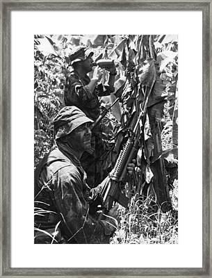 Navy Seals In Covert Op Framed Print by Underwood Archives