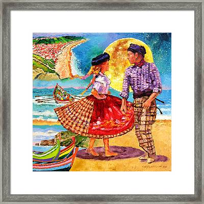 Nazare Portugal Framed Print by John Lautermilch