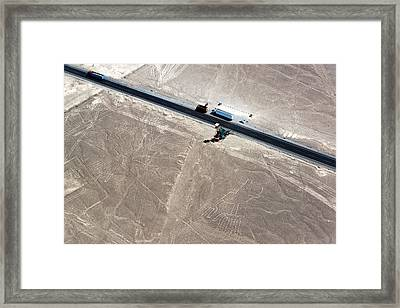 Nazca Lines Hands And Tree Framed Print by Jess Kraft