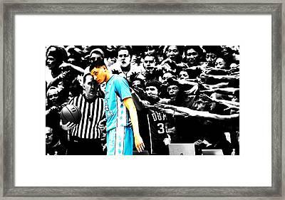 Nc Tarheel Under Pressure 1b Framed Print by Brian Reaves