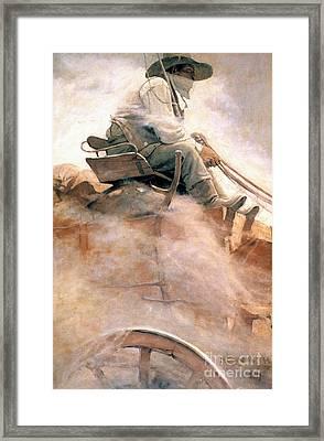 N.c. Wyeth: Ore Wagon Framed Print by Granger
