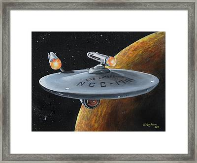 Ncc-1701 Framed Print by Kim Lockman