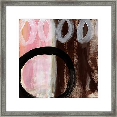 Neapolitan 2 - Abstract Painting Framed Print by Linda Woods