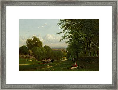 Near Leeds, New York Framed Print by George Inness