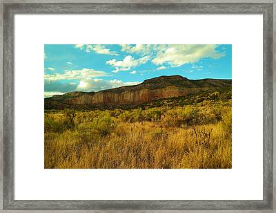 Near The Chama River New Mexico Framed Print by Jeff Swan