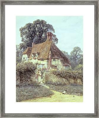 Near Witley Surrey Framed Print by Helen Allingham