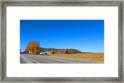 Nearby Mongo Indiana Framed Print by Tina M Wenger