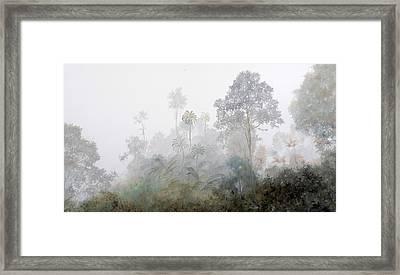 Nebbia Nella Foresta Framed Print by Guido Borelli