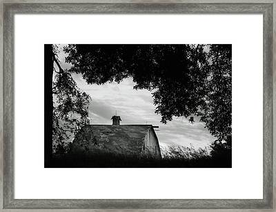 Nebraska - Barn - Black And White Framed Print by Nikolyn McDonald