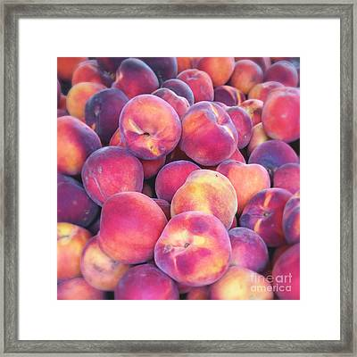 Nectarine Food Photograph Framed Print by Ivy Ho