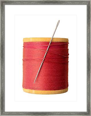 Needle And Thread Framed Print by Jim Hughes