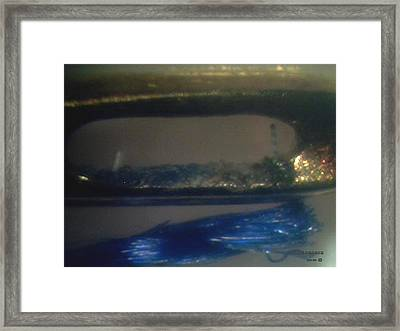 Needle Eye And Blue Sewing Thread  Framed Print by Phillip H George
