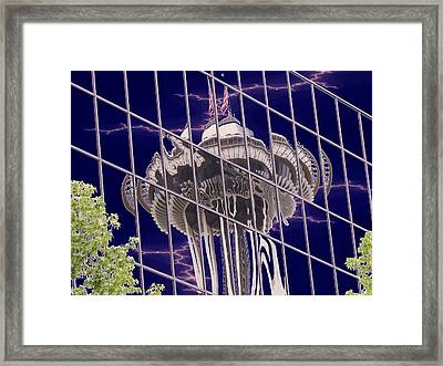Needle Reflection Framed Print by Tim Allen