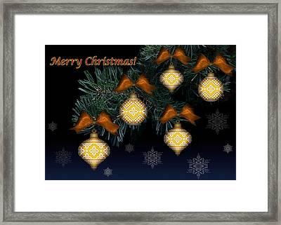Needlework Christmas Ornaments II Framed Print by Stoyanka Ivanova