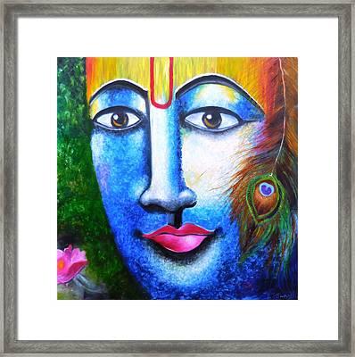 Neela Madhava Framed Print by Tejaswani  Sharma