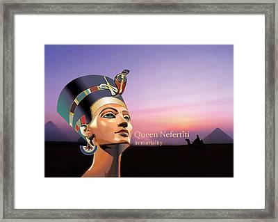 Nefertiti Framed Print by Debbie McIntyre