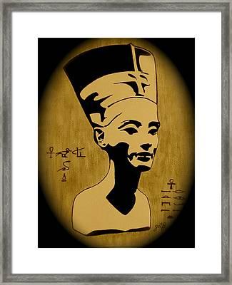 Nefertiti Egyptian Queen Framed Print by Georgeta  Blanaru