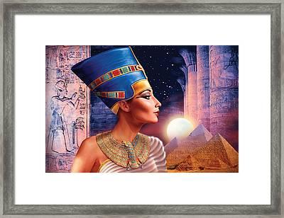 Nefertiti Variant 5 Framed Print by Andrew Farley