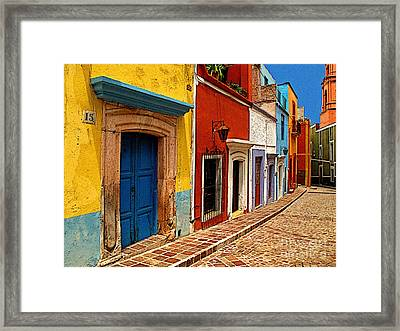 Neighbors Of The Yellow House Framed Print by Mexicolors Art Photography